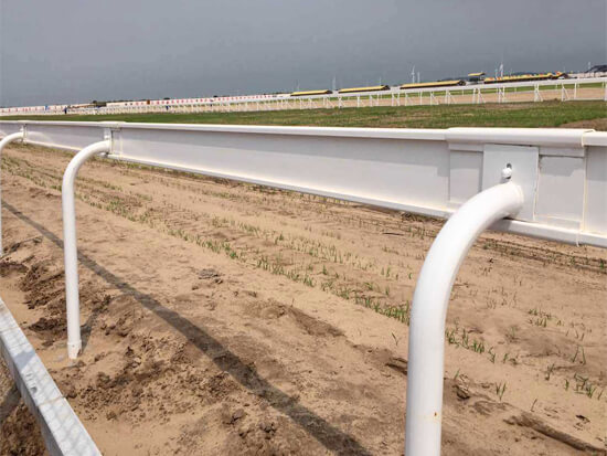 200 Wide PVC Rail Horse Racing Fence