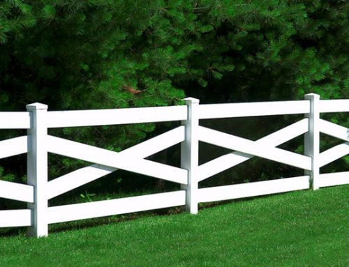 ES-H04 White Cross Rail Horse Fence