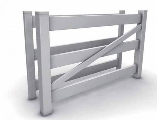 ES Vinyl Fence Gate for 3 Rail Horse Fence
